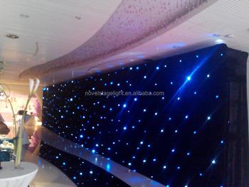 Led Gordijn Kopen : Bruiloft decors led verlichting zwarte ster achtergrond stadium