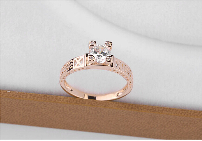 2015 New Design 1 Gram Gold Ring Eiffel Tower Hollow Out Gold