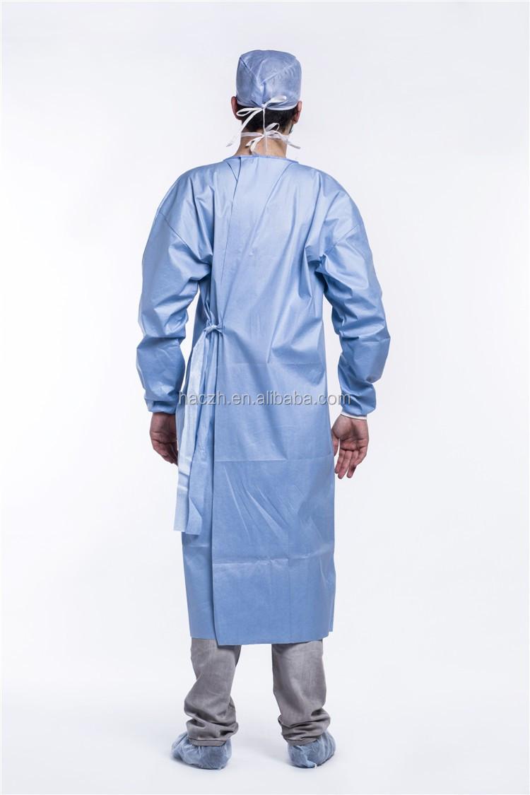 2af8a9921 Estándar Desechables Spunlace Batas Quirúrgicas reforzado Hospital ...
