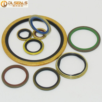 Iron NBR Bonded Gasket Dowty Washer BS/A Selfcentering Composite ...
