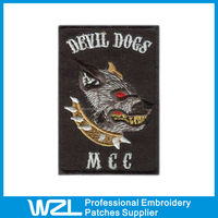 Personalized Devil Dogs Embroidery Custom Logo Patch