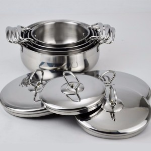 kitchen set stainless steel stock pot/biryani cooking pot/cooking set