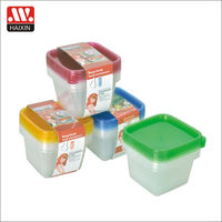 Rectangular food plastic box takeaway food box design 4 pieces 0.7L plastic packaging box for food