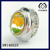beautiful timepieces watch design big stone flower fashion timepieces watch ring