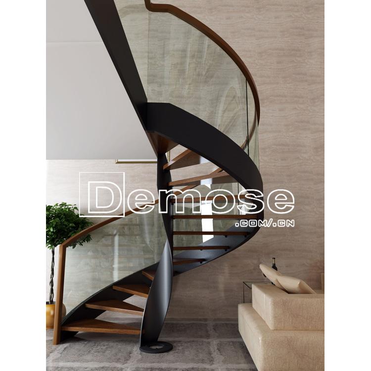 Moderna escalera escalera en espiral plan de hierro - Escalera en espiral ...
