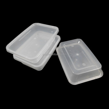 500ml 18oz Clear Rectangular Plastic Microwave Container Disposable Food