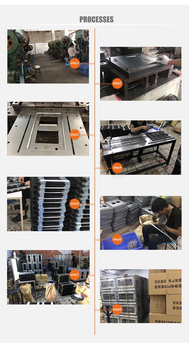 Edelstahl Vier-Rad PCB Magazin Rack ESD Lieferung Trolley Umsatz ESD PCB Durchblutung Lagerung Warenkorb