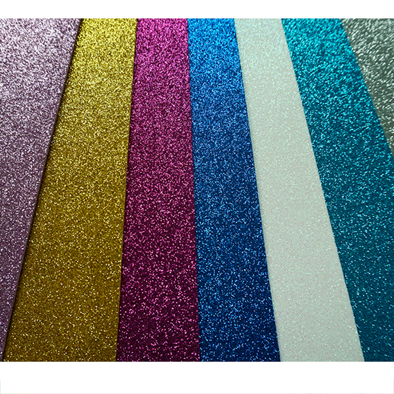 2mm Thick Colorful Craft Glitter EVA Soft Foam Sheet Thin EVA Paper For Kids DIY Cutting Play House EVA Decoration Glitter Sheet