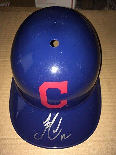 1d0a762821391 Get Quotations · Francisco Lindor Cleveland Indians signed autographed  Souvenir Helmet