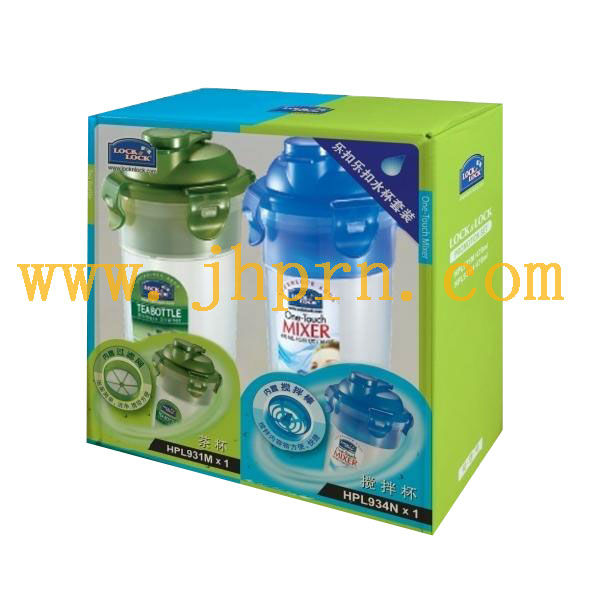 paper gift packaging box for plastic cup with window