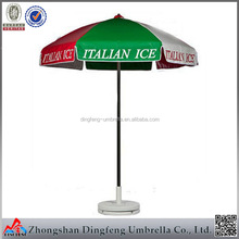 Logo Printed Advertising Custom strong beach umbrella with folding