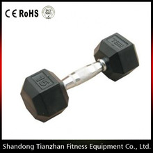 Fitness Accessories Rubber Hex Dumbbell For Gym Use