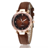 WJ-7778 Match Color Charming Leather Band Watch For Female Causal Popular With Rhinestone Beautiful Quartz Women Wrist Watch