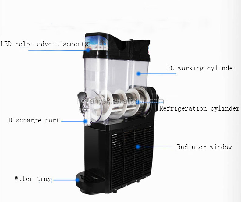 IS-TKX- 02 Commercial Double Cylinder Automatic Smoothie Machine Smoothie Maker
