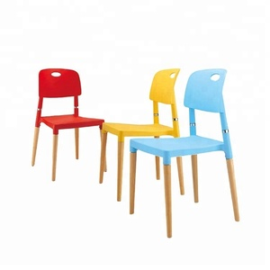 wholesale chinese home goods leisure furniture luxury design pp plastic hotel restaurant wooden dining chair
