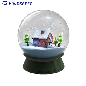 Christmas cheap house water globe snow globe for kid on sale