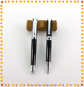 promotional heavy metal roller stamp pens with box and logo