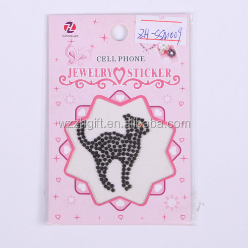 New product 2016 cell phone jewelry sticker/cute mobile phone case