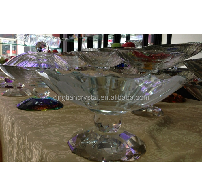 CBL-1010 Custom top quality Crystal Fruit Plate desk decoration