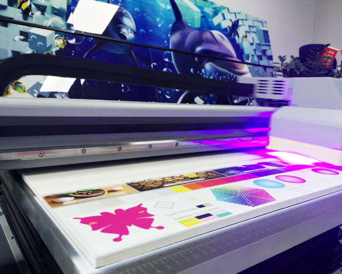 DX5 A1 Large Format Digital UV Golf Ball Ceramic Acrylic Glass Flatbed Printer