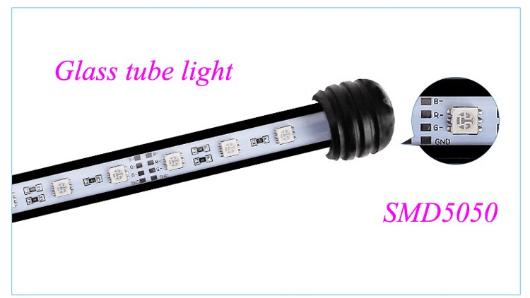 Wholesale fishing led tube light DIP aquarium coral reef underwater lighting submersible led lamp 30cm 40cm 50cm