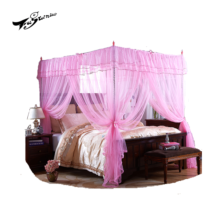 Three door palace mosquito net bed canopy for queen/king size bed rectangular