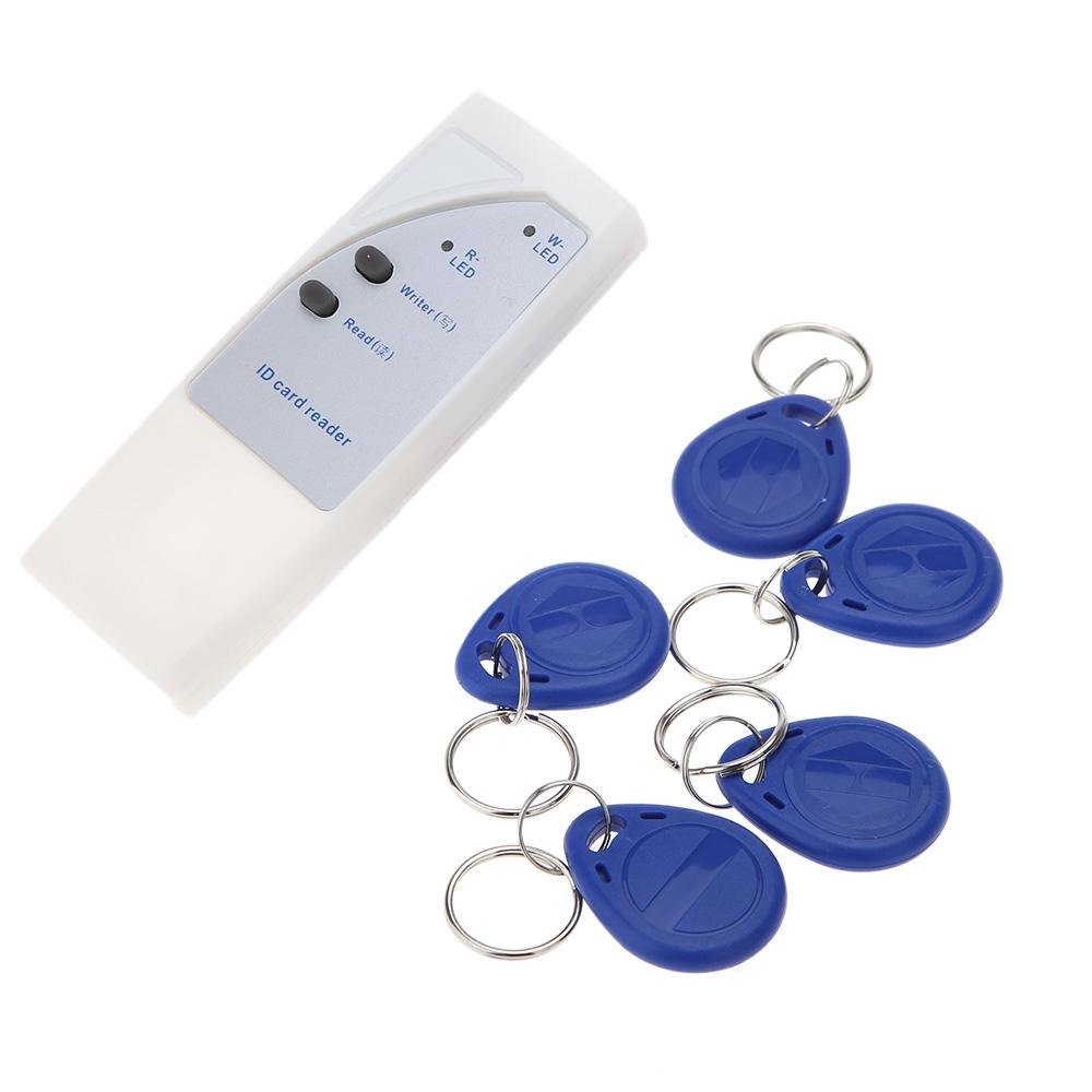 Двери контроля доступа rfid-считыватель 125 кГц ручной смарт-карт ID читатель копир писатель дубликатор + 5 с возможностью записи карты + 5 брелок