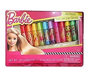 Barbie 10 Pack Roll-on Lip Gloss by Mattel