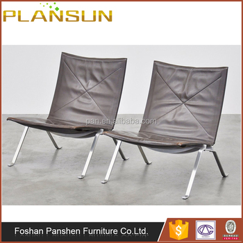Chinese Replica Furniture Fritz Hansen Leather PK22 Lounge Chair For Living  Room
