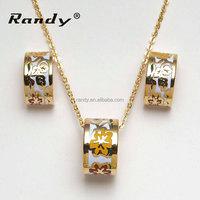 Fancy Jewelry Sets Gold Plated Fine Enamel Earrings Jewellery