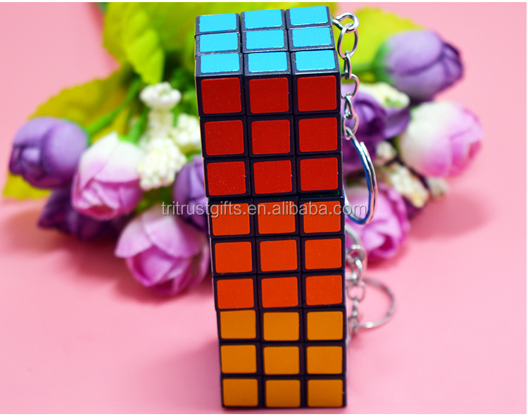 Rubiks Rubix Puzzle Cube Keyring Rubic Key Ring Party Bag
