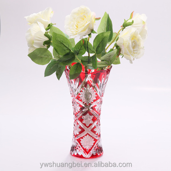 Cheap Wholesale Coloured Glass Vases Wholesale Red Glass Vases