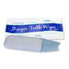 disposable finger wet wipe for teeth cleaning