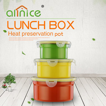 Colorful stainless steel crisper with lid/Storege containers crisper/ Plastic food fresh crisper