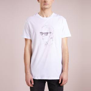 white print cool picture round neck blank men's casual t shirt