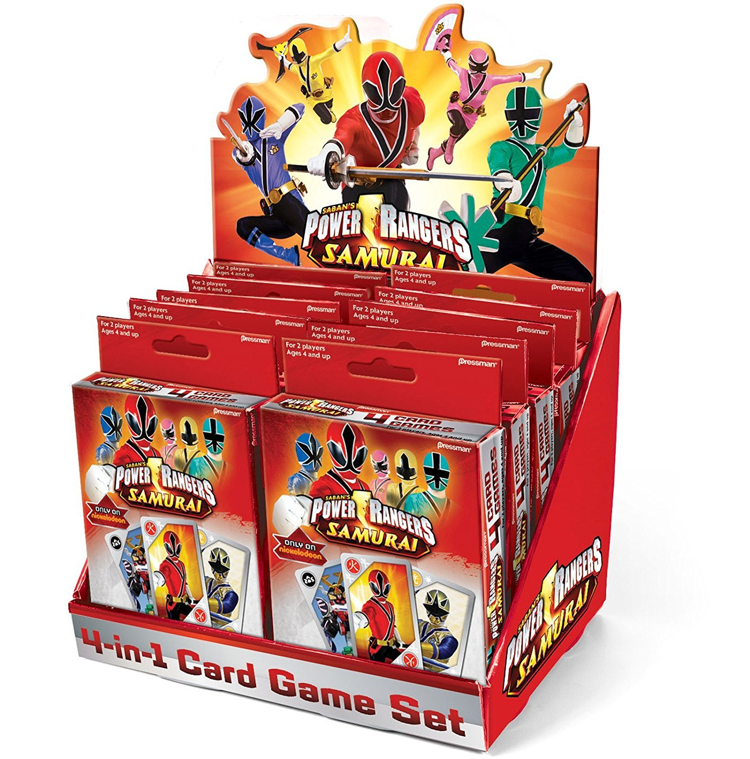 Power Rangers Samurai 4 in 1 Card Game (Red) Party Accessory