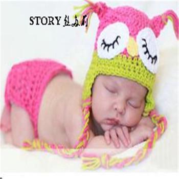 2018 Baru Lahir bayi anak handmade burung owl pakaian rajutan topi bayi  laki-laki perempuan f07462a674