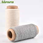 GRS Recycled poly cotton blended thick yarn NM10 & NM14 dyed color glove yarn for knitting glove