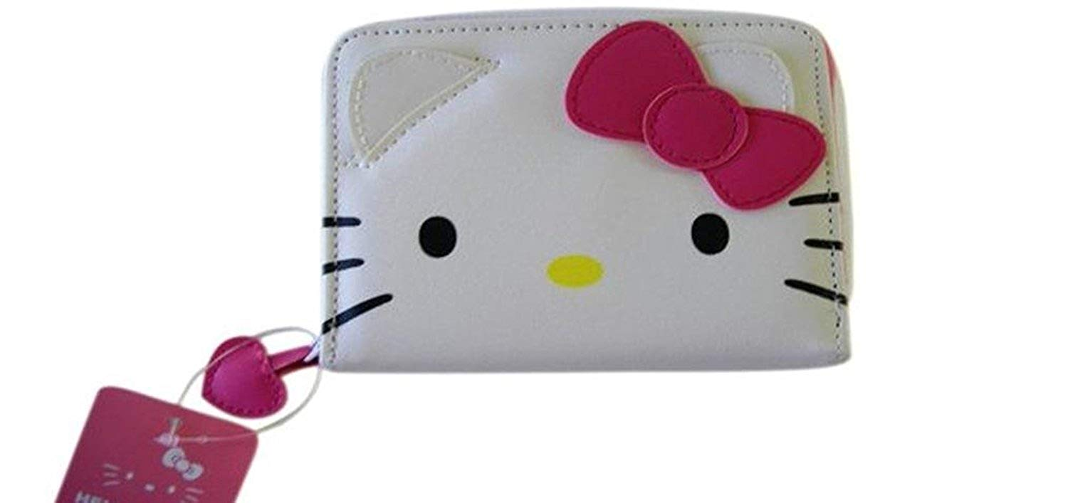 Get Quotations · Hello Kitty Face Wallet with Pink Bow d45e93a9a5f13