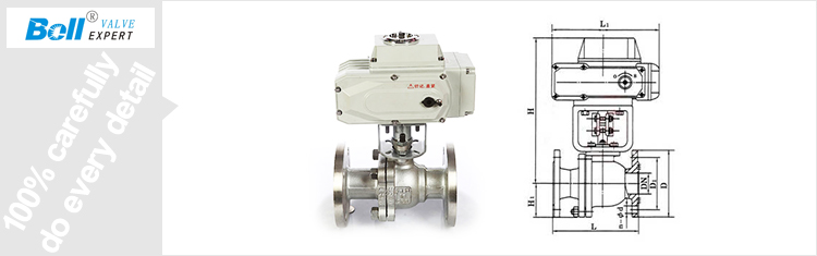 Dn50 On-off Type Electric Actuator Ball Valve