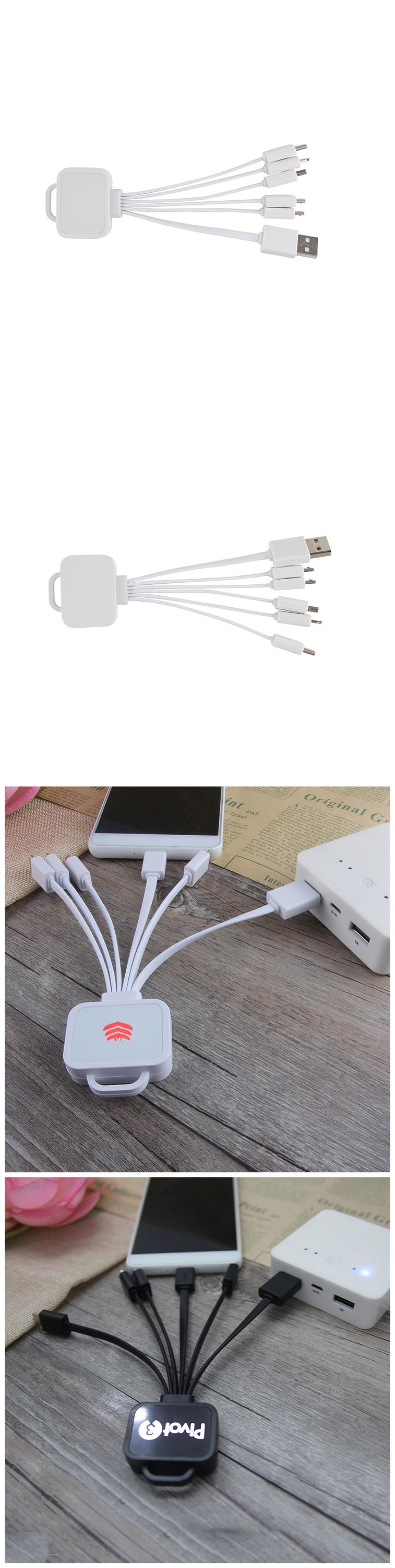 Factory Wholesales Portable Type C Micro USB IOS 3-In-1 Colorful USB Charging Date Cable For Mobile Phone