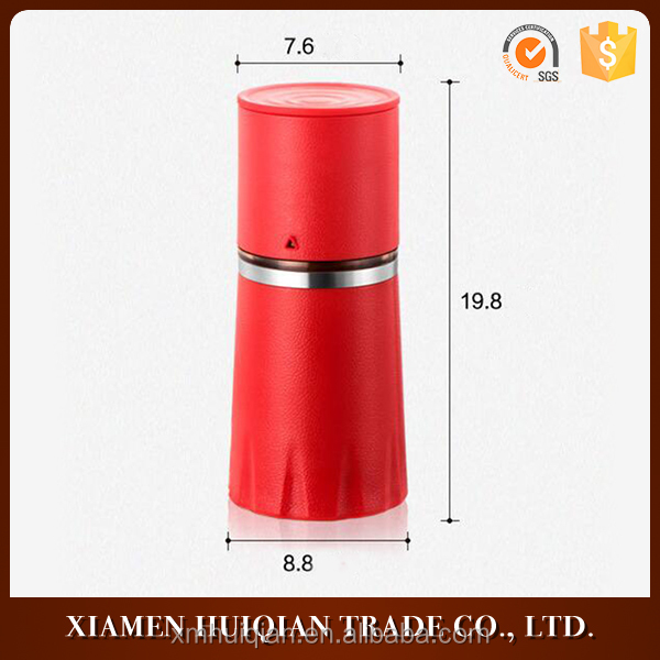 Accept OEM and ODM simple red stainless steel coffee grinder