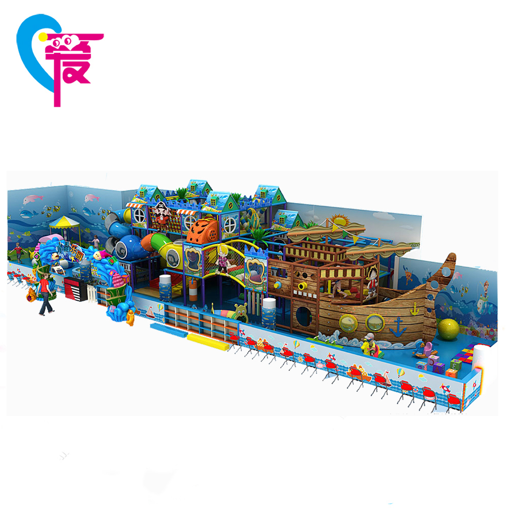 A-15240 China Factory Ocean Corsair Park Cheap Soft Kids Wooden Indoor Playground Equipment