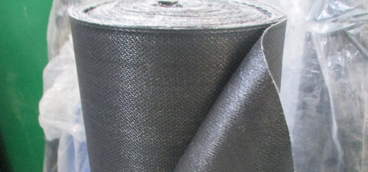 Neoprene Coated Fiberglass Fabric 0.44mm 500g/m2 Black 1m x 50m Roll from China factory ROCKPRO