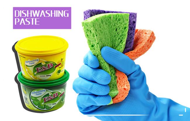 Gros ménage nettoyant détergent à vaisselle en pâte