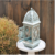 Retro countryside garden decoration metal candle holder lantern, home table lamp