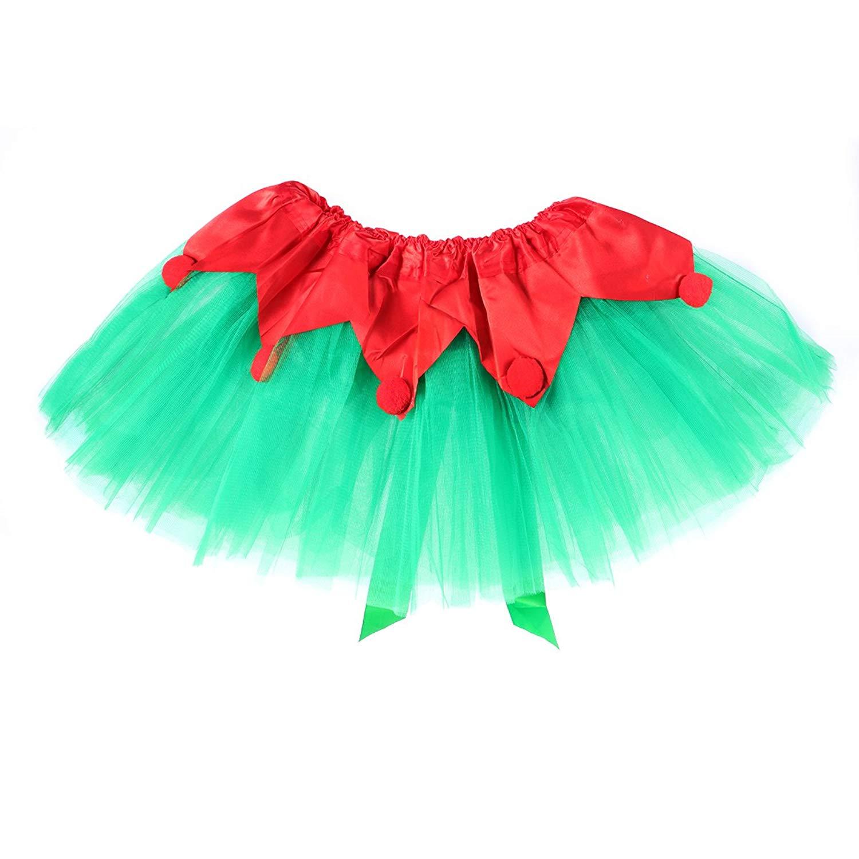 130eac593e Get Quotations · TINKSKY Kids Bowknot Tutu Skirt 3 Layered Princess Dress  With Pom Pom Puff Balls Tutu Skirt