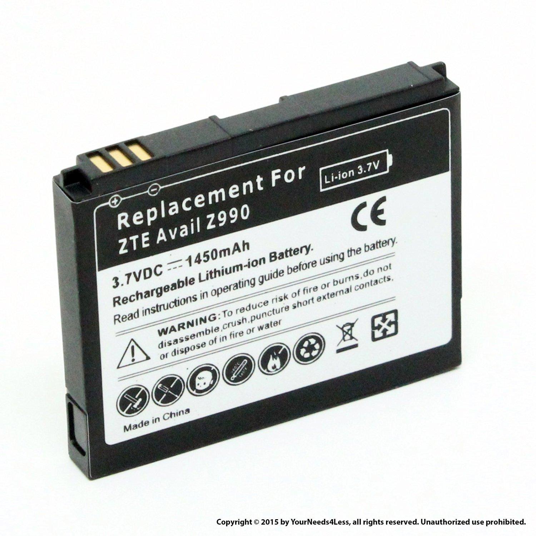 YN4L® 1450mAh battery for ZTE Avail Z990 (AT&T); Merit 990G (Straight Talk); N760 Roamer
