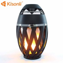 CE ROHS Portable wireless speaker with Romantic Led Flame light portable subwoofer speaker
