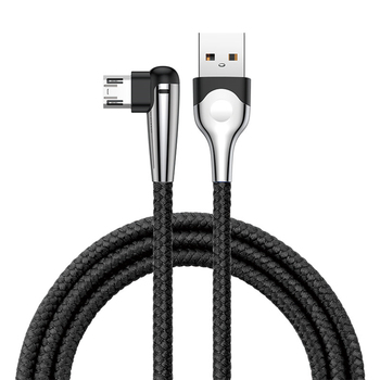 Baseus Double Side 2.4A Quick Hd Nylon Beste Normen Modieuze 90 Graden Micro Usb Data Kabel